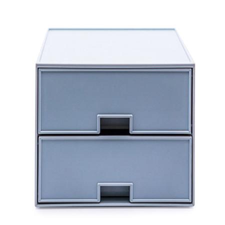 UDEE กล่องลิ้นชัก ABS 2 ชั้น- สีฟ้าพลาสเทล