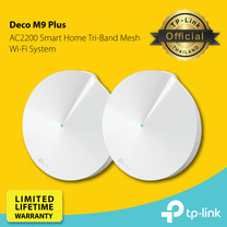 TP-Link Deco M9 Plus (AC2200 Smart Home Mesh Wi-Fi System) 1 กล่อง มี 2 เครื่อง IOT-Hub Build-In