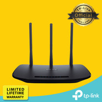 TP-Link TL-WR940N เราเตอร์ปล่อย Wi-Fi ใช้กับอินเตอร์เน็ตไฟเบอร์ เคเบิ้ล FTTx(เชื่อมต่อกับโมเด็ม Fiberของผู้ให้บริการ) 450Mbps Wireless N Router