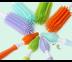 แปรงล้างขวดนมซิลิโคน แบบเซ็ตด้ามหมุน สีม่วง - Mathos Loreley