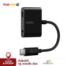 Belkin RockStar 3.5 mm Audio + USB-C Charge Adapter - Black