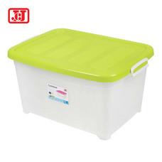JCJ กล่องเก็บของอเนกประสงค์ มีล้อ รุ่น 5112 ความจุ 25 ลิตร - สีเขียว