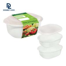JCJ กล่องไมโครเวฟสำหรับอุ่นอาหาร ขนาด 3300 มล. รุ่น 2507 - สีขาว