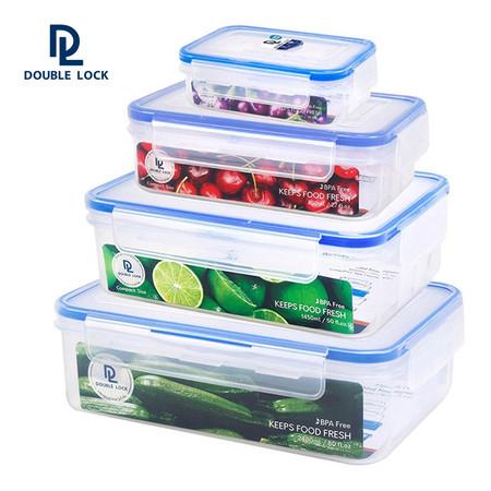 Double Lock ชุดกล่องถนอมอาหาร 8 ชิ้น รวมฝา (4 กล่อง/ชุด) รุ่น 99215