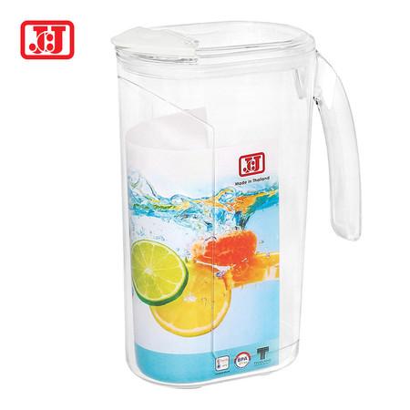 JCJ เหยือกน้ำพลาสติกมีฝาปิด 2000 ml. รุ่น 1301 - สีขาว