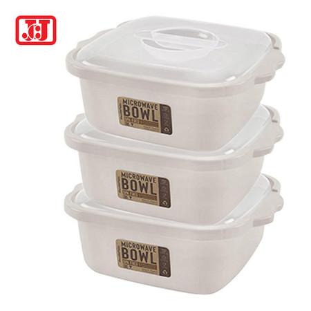 JCJ กล่องไมโครเวฟสำหรับอุ่นอาหาร รุ่น 4602 - สีเบจ (แพ็กละ 3 กล่อง)