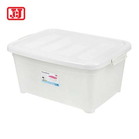 JCJ กล่องเก็บของอเนกประสงค์มีล้อ ความจุ 15 ลิตร รุ่น 5111 - สีขาว