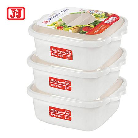 JCJ กล่องไมโครเวฟสำหรับอุ่นอาหาร รุ่น 4602 - สีขาว (แพ็กละ 3 กล่อง)