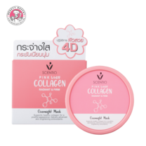 BEAUTY BUFFET SCENTIO PINK COLLAGEN RADIANT & FIRM OVERNIGHT MASK (100 ML)