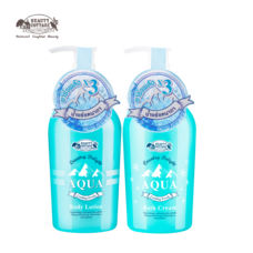 (แพ็คคู่) BEAUTY COTTAGE COUNTRY DELIGHT AQUA COOLING FRESH BODY LOTION & BATH CREAM (270 ml)