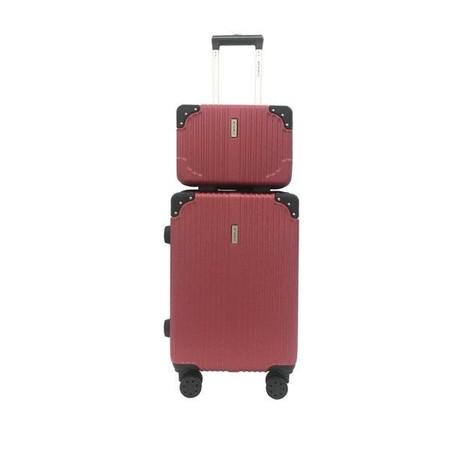 BP WORLD เซ็ทกระเป๋าเดินทาง รุ่น Fantastic 8059 ขนาด 13 นิ้ว และ 20 นิ้ว - สีไวน์แดง