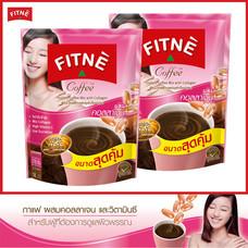 FITNE' ฟิตเน่ คอฟฟี่ กาแฟปรุงสำเร็จชนิดผงผสมคอลลาเจน ขนาด 18 ซอง 2 ถุง