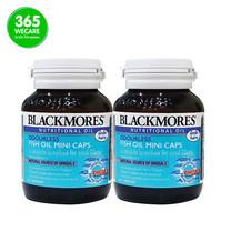 แพ็คคู่ Blackmores Odourless Fish Oil Mini Caps แบล็คมอร์ส ฟิชออย [60x2]
