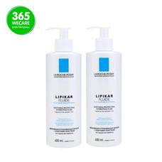 แพ็คคู่สุดคุ้ม LA ROCHE Lipikar Soothing Protecting Fluid 400 ml.+400 ml. มีความเข้มข้นสูง ผิวรู้สึกปลอบประโลมทันทีที่ใช้ 365wemall