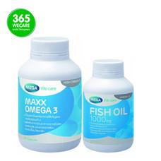 เซ็ตสุดคุ้ม MEGA MAXX OMEGA 3 + Mega Fish Oil 1000 mg