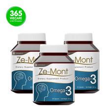 ZE-Mont น้ำมันงาขี้ม้อนสกัดเย็น แพ็ค 2 แถม 1 60+60+60 เม็ด