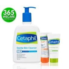 SET สุดคุ้ม CETAPHIL Gentle Skin Cleanser 500ml.+Moist.15g.+Sun10g. ผิวบอบบางแพ้ง่าย และ ทุกสภาพผิว (27109) 365wemall