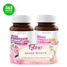 VISTRA Perfect White Value Pack(Collagen1300 30s.+Gluta800 30s.)