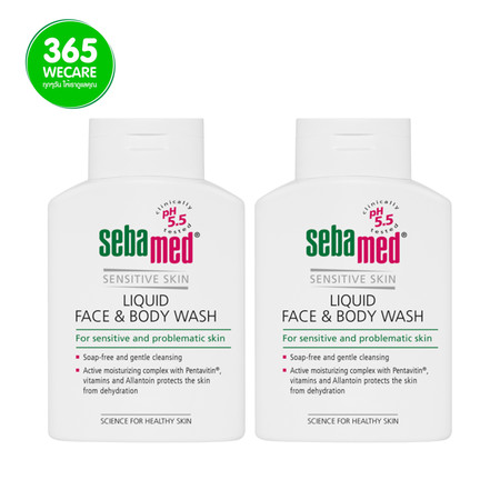 1 แถม 1 Sebamed Liquid Face & Body Wash 200 ml.+200 ml.