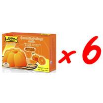 LOBO โลโบ วุ้นเจลาตินสำเร็จรูป กลิ่นส้ม ขนาด 110 กรัม (แพ็ค 6 กล่อง)