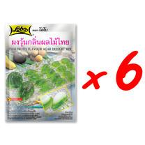 LOBO โลโบ ผงวุ้นอะการ์กลิ่นผลไม้ไทย ขนาด 115 กรัม (แพ็ค 6 ซอง)