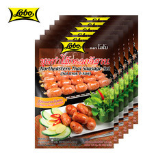 LOBO โลโบ ชุดทำไส้กรอกอีสาน ขนาด 75 กรัม (แพ็ค 6 ซอง)
