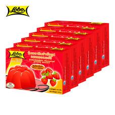LOBO โลโบ วุ้นเจลาตินสำเร็จรูป กลิ่นสตรอเบอร์รี่ ขนาด 110 กรัม (แพ็ค 6 กล่อง)