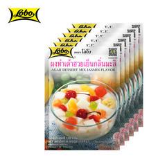 LOBO โลโบ ผงทำเต้าฮวยเย็นกลิ่นมะลิ ขนาด 130 กรัม (แพ็ค 6 ซอง)