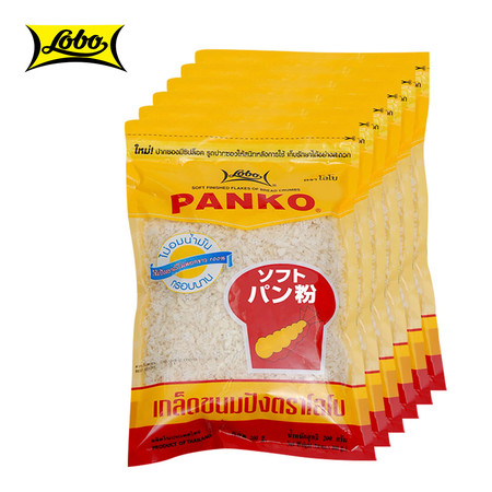 LOBO โลโบ เกล็ดขนมปัง PANKO ขนาด 200 กรัม (แพ็ค 6 ซอง)