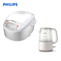 PHILIPS หม้อหุงข้าวดิจิตอล รุ่น HD3038 ขนาด 1.8 ลิตร + PHILIPS กาต้มน้ำไฟฟ้า 1.5 ลิตร รุ่น HD9334