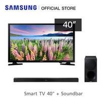 Samsung Flat Soundbar HW-M450 + Samsung Full HD Smart TV รุ่น UA40J5250DKXXT (2018) ขนาด 40 นิ้ว