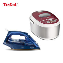 Tefal เตารีดไอน้ำ รุ่น FV1848T0 - Blue (2500 วัตต์) + หม้อหุงข้าวไฟฟ้าระบบดิจิตอล Tefal รุ่น RK811565 (1 ลิตร)