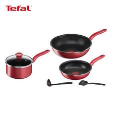TEFAL ชุดเครื่องครัว 6 ชิ้น รุ่น So Chef G135S695 - Red