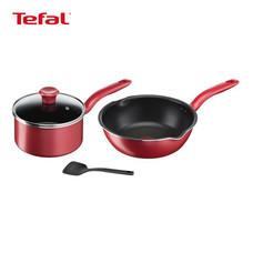 TEFAL ชุดเครื่องครัว 4 ชิ้น รุ่น So Chef G135S495 - Red