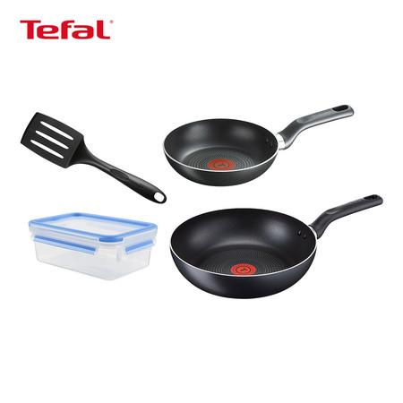 TEFAL เซตเครื่องครัว 4 ชิ้น รุ่น KIT 2 SUPER COOK FP20 + WP26 + REC 0.8L + SPATULA