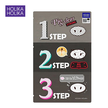 HOLOKA HOLIKA PIG NOSE CLEAR BLACK HEAD 3-Step Kit (Strong)