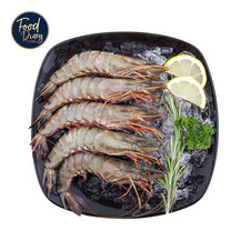 Frozen Raw Whole Black Tiger Shrimp Head On 8/12