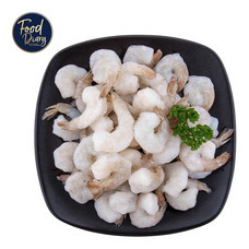 Frozen Raw Peeled Deveined Tail On White Shrimp 41/50 lb.