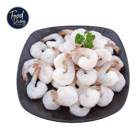 Frozen Raw Peeled Deveined Tail On White Shrimp 26/30 lb.