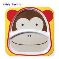 Skip Hop จานดีไซน์น่ารัก Zoo Divided Plate Monkey Style