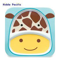 Skip Hop จานดีไซน์น่ารัก Zoo Divided Plate Giraffe Style