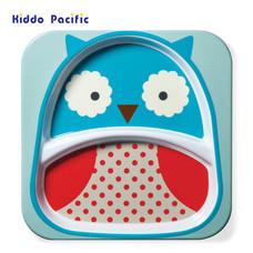 Skip Hop จานดีไซน์น่ารัก Zoo Divided Plate Owl Style