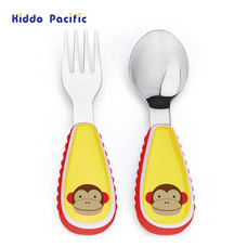 Skip Hop ชุดช้อน-ส้อม Zoo Tensils Fork & Spoon - Monkey