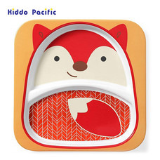 Skip Hop จานดีไซน์น่ารัก Zoo Divided Plate Fox Style