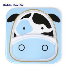 Skip Hop จานดีไซน์น่ารัก Zoo Divided Plate Cow Style