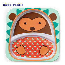 Skip Hop จานดีไซน์น่ารัก Zoo Divided Plate Hedgehog Style