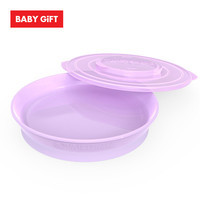 Twistshake Plate จานพร้อมฝาปิด - Purple