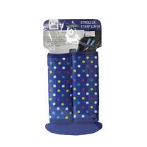 นวมหุ้มสายเบลล์สำหรับรถเข็นเด็ก คาร์ซีท Prince&Princess Stroller Strap Cover - 477 (Polka dot)