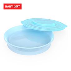 Twistshake Plate จานพร้อมฝาปิด - Blue