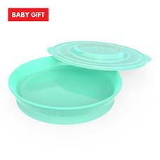 Twistshake Plate จานพร้อมฝาปิด - Green